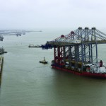 The new cranes are the largest ever to arrive in the UK