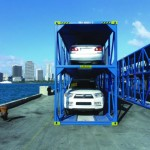 "Seaboard Marine's ""double stack"" auto container"