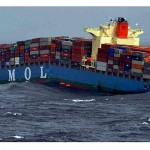 Cracks appeared amidships on the 'MOL Comfort' [Picture - sahilonline.org]