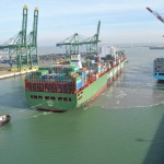 The 'CSCL Star' arrives at APMT Zeebrugge