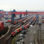 The rail terminal at the HHLA Container Terminal Altenwerde
