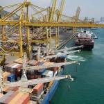 The three cranes will reach 47 m under spreader