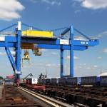 Duisburg's new railway crane