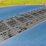 An artist's impression of Moin Container Terminal