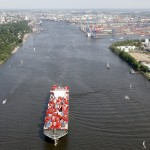 The Port of Hamburg handled 7.4m teu in the first nine months of 2014
