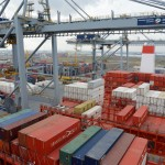 Operations have come to a standstill at the Port of Antwerp