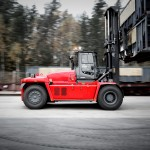 Kalmar's new forklift track consumes up to 15% less fuel in standard configuration