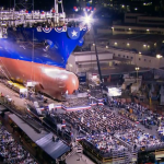 More than 2,600 people watched the ship's launch