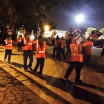 Truckers picketing on Monday night