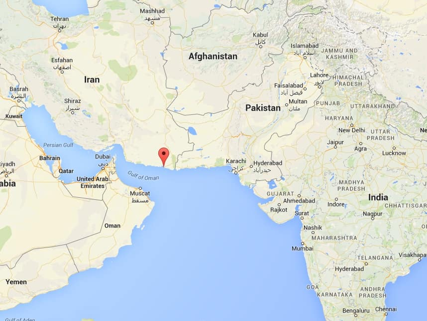 India defies US to invest in Iranian port of Chabahar – Map of Iran and India