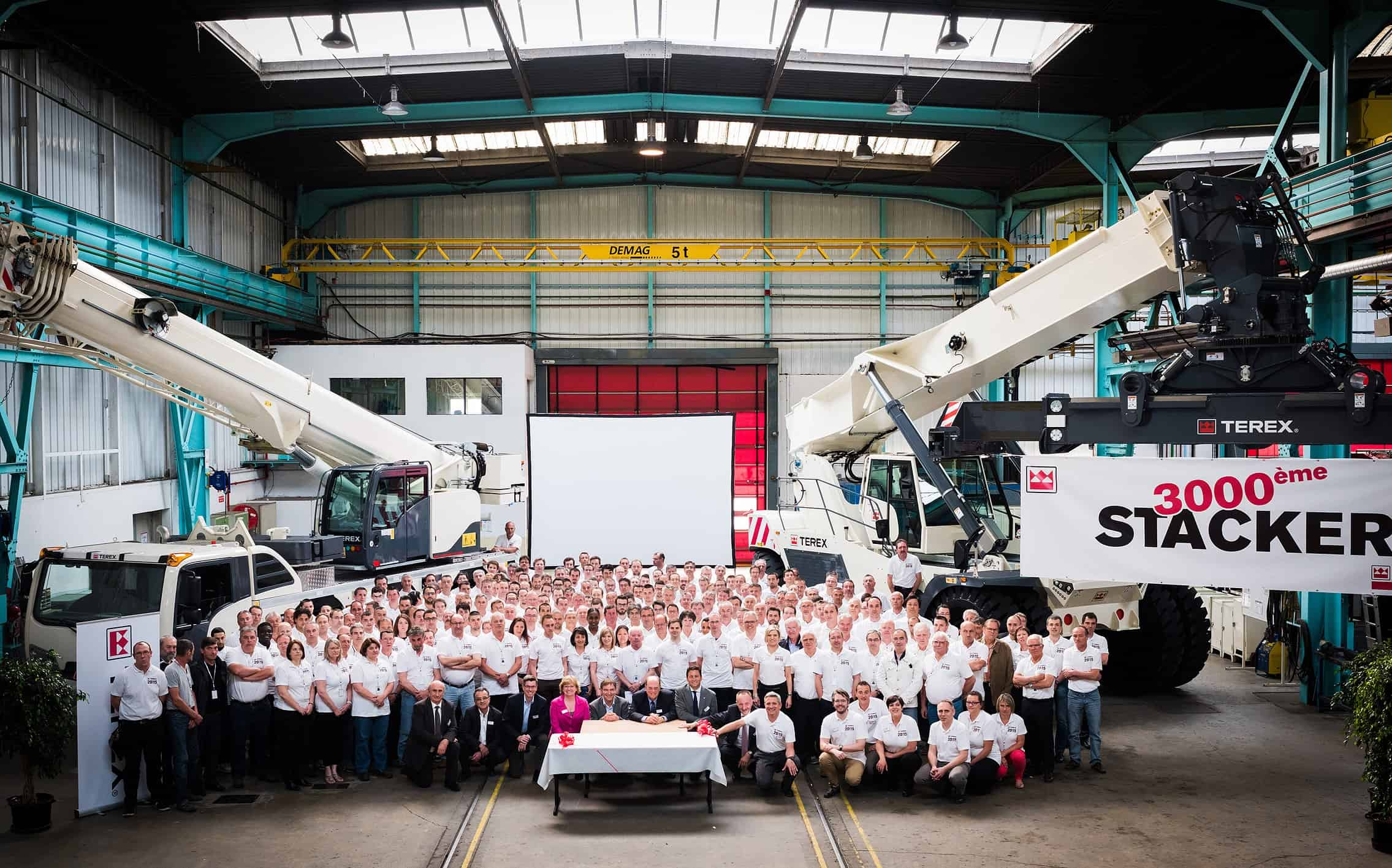Terex marks Montceau-Les-Mines 20th anniversary with 3,000th reachstacker
