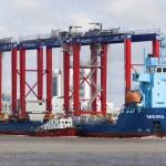 The mv Meri at the Port of Bronka