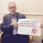 British Labour Party leadership hopeful Jeremy Corbyn has expressed solidarity with the Hutchison workers