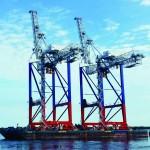 Liebherr STS cranes en route to Fenix Container Terminal,
