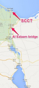 The Al Salaam Bridge is the easiest way for trucks to reach SCCT
