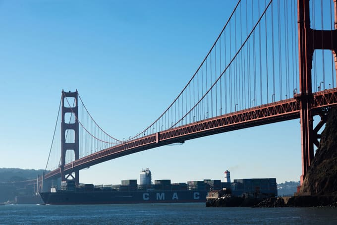 Largest container ship to ever visit US departs Oakland