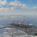 The new terminal (dark-gray area) is expected to be completed after 2020 (Photo: Port of Gothenburg)
