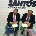 Eric Olafson, PortMiami's development manager and Alex Oliva, president of Santos Port Authority