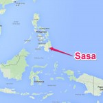 Sasa is located on the island of Davao
