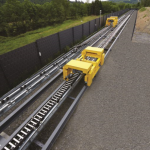 The Kabelschlepp testing facility has 105 m long travel lengths