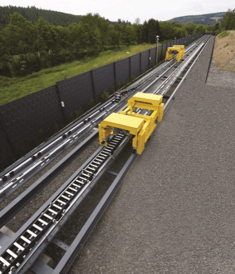 Testing cable carriers in realistic situations