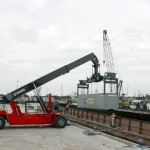 The Kalmar Super Gloria reachstacker