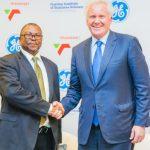 Transnet group chief executive Siyabonga Gama with GE Chairman and CEO Jeff Immelt
