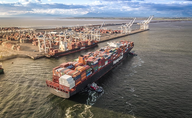 GCT Deltaport receives largest vessel to call Canada