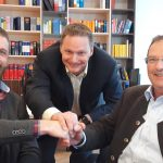 Stefan Ziegler MD Ziegler Group, Robert Sebald, co-MD Contargo Network Logistics, Thomas Loeffler Co-MD Contargo