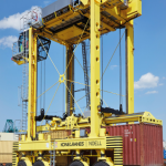 A Konecranes Noell straddle carrier