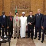 DP World group chairman and CEO, Sultan Ahmed Bin Sulayem, with Mali's President, Ibrahim Boubacar Keïta