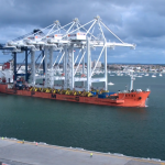 Cranes arriving at ICTSI's Melbourne terminal