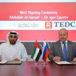 Abdulla Al Hameli, Abu Dhabi Ports and Igor Egorov, TEDC