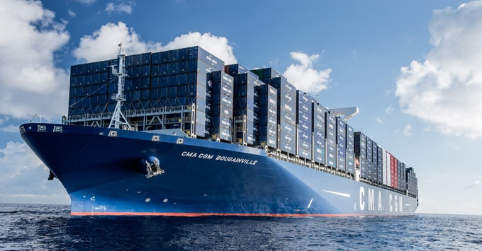 CMA CGM deploys container tracking device