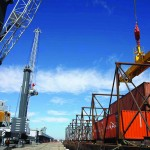 Stockton received a US$13m grant to purchase two Liebherr mobile harbour cranes