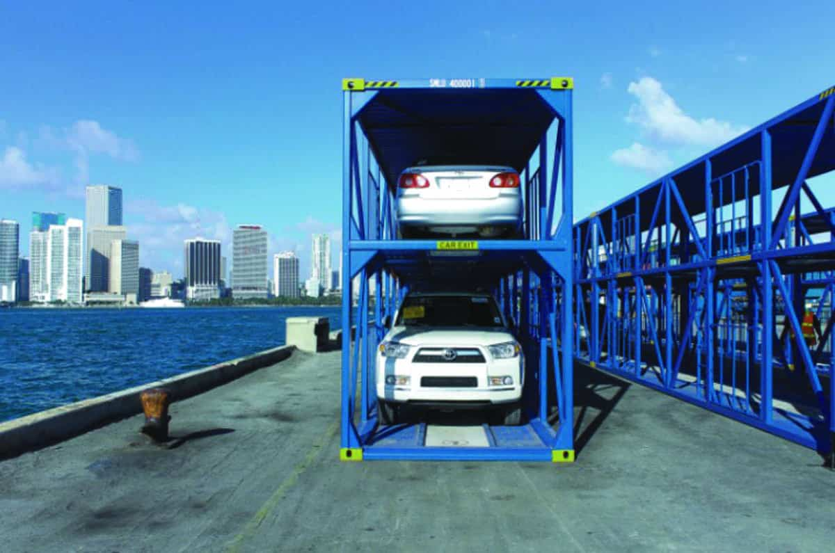 """Seaboard Marine's """"double stack"""" auto containers"""