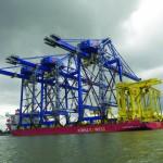 New quay cranes and  RTGs arriving at Portonave
