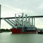 The new cranes arriving at Savannah