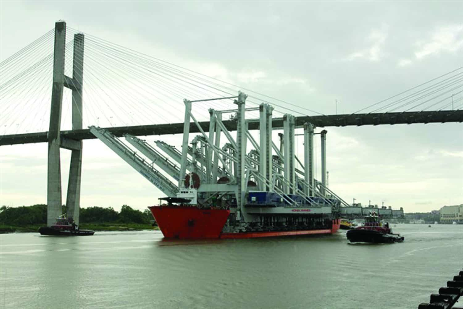 Four new super post-Panamax cranes for Savannah