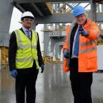Boris Johnson (Right) at London Gateway