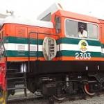 One of Apapa's four new locomotives