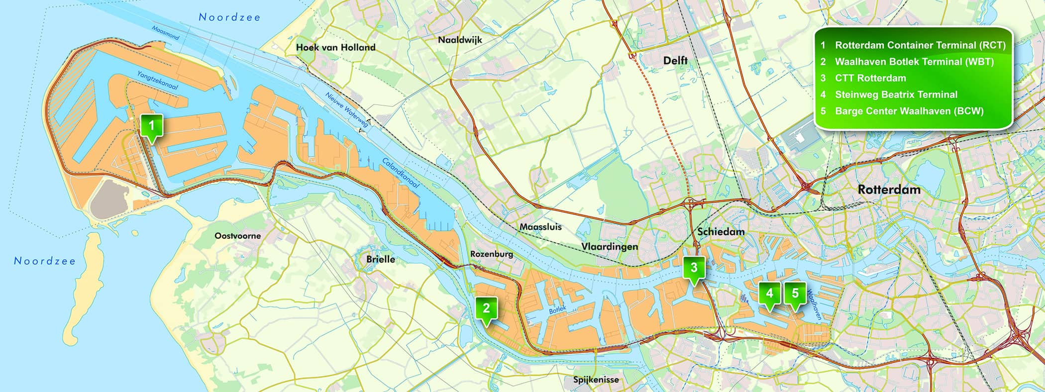 Rotterdam port is now covered by InlandLinks