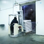 The cold storage area is maintained at -12F (-24C)
