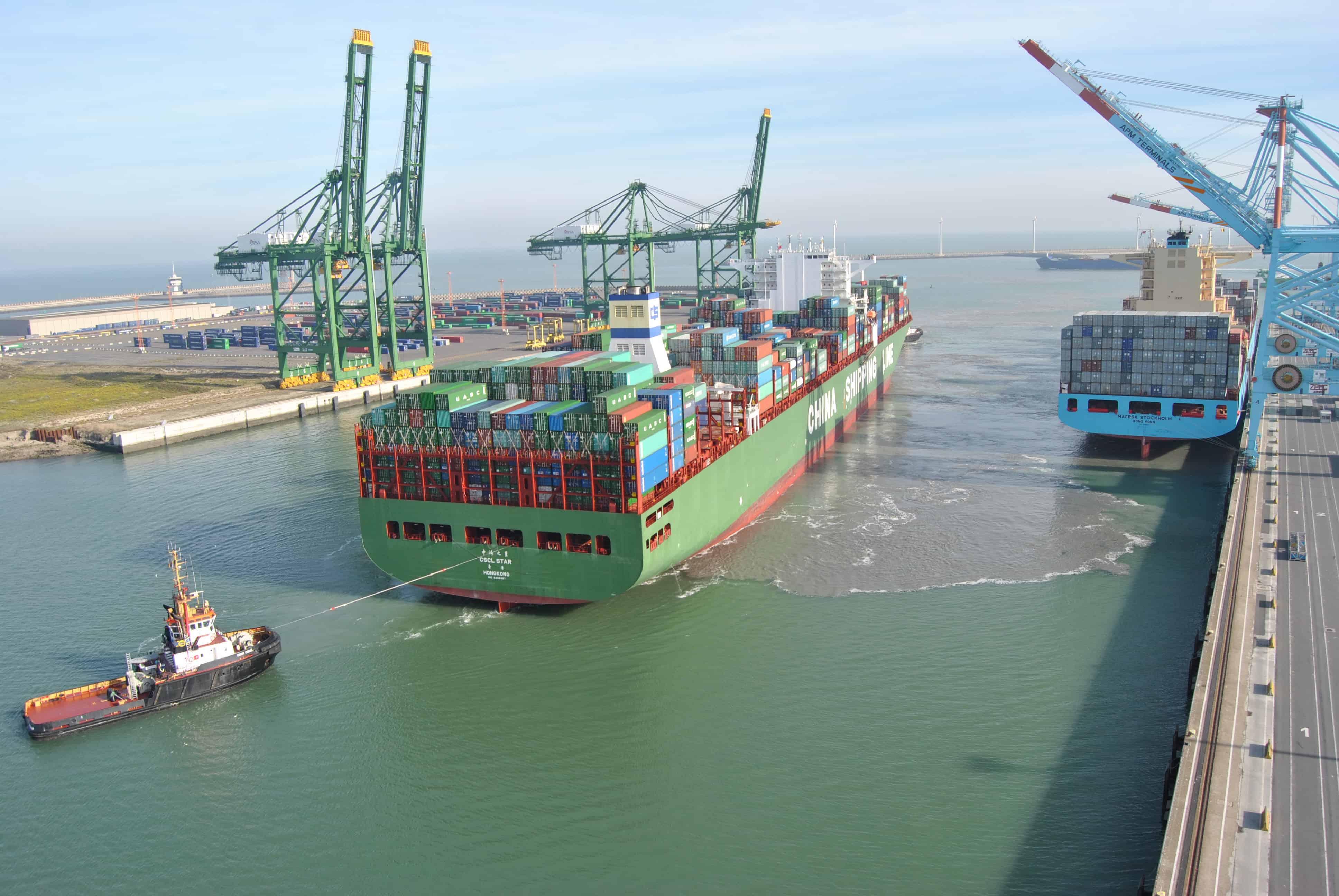 First CSCL vessel calls APMT Zeebrugge