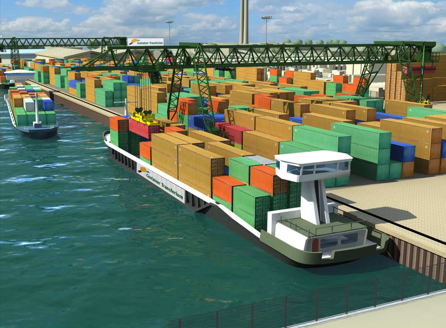 Construction begins on Container Transferium Alblasserdam