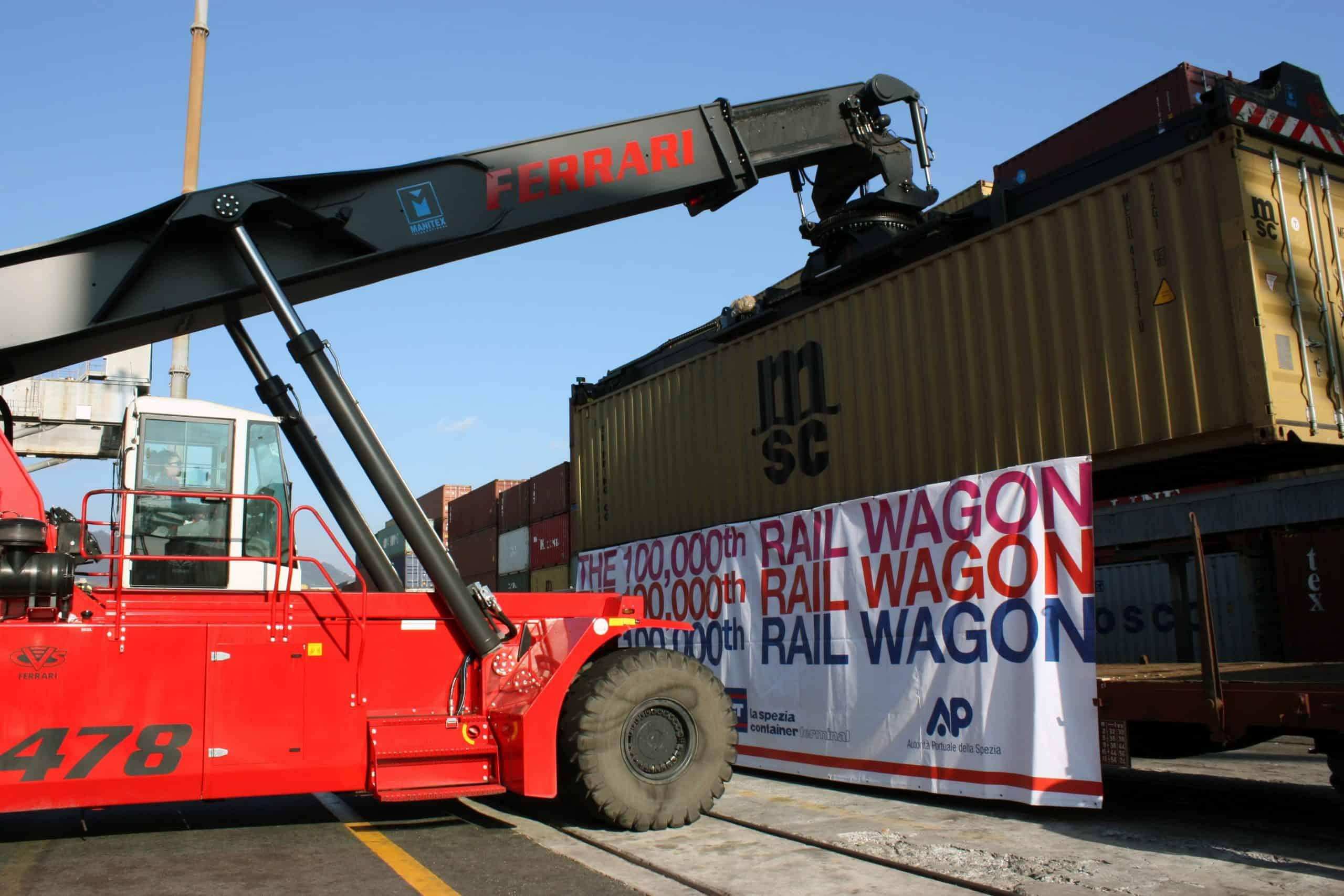 La Spezia celebrates 100,000 rail wagons