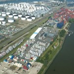 The terminal is located on the Oude Maasweg-Westgeulstraat in the Botlek area (Aeroview)