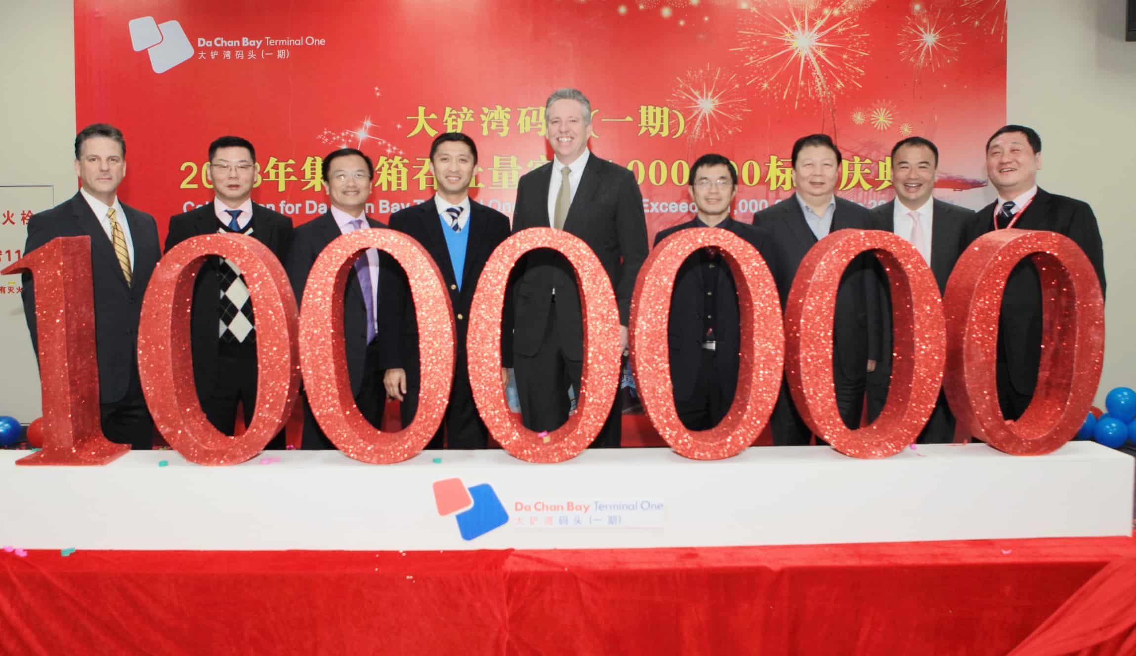 Da Chan Bay 2013 throughput hit 1m