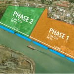 The completed new terminal will be able to handle five post-Panamax ships simultaneously