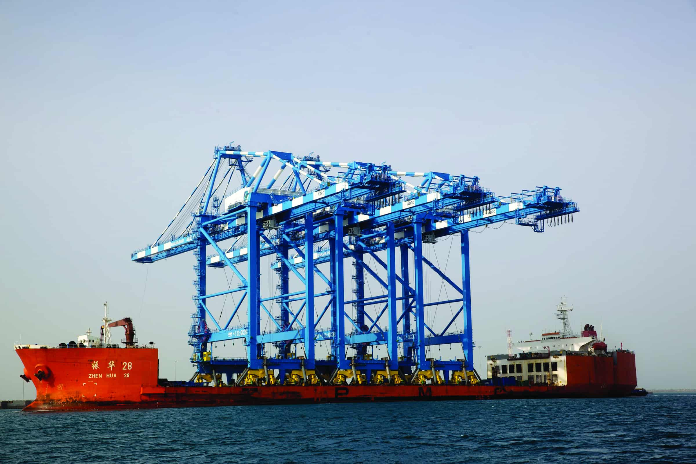 Khalifa welcomes three of the world's largest quay cranes